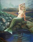 Topless Paintings - Mermaid by Bryan Bustard