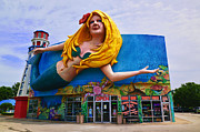 Humor Prints - Mermaid Building Print by Garry Gay