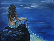 Posters On Paintings - Mermaid Enchantment by Leslie Allen