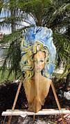 Yello Paintings - Mermaid Head by Maria Weed