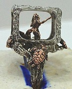 Mermaid Jewelry - Mermaid in Aquarium ring by Michelle  Robison