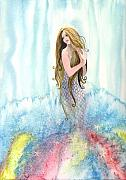 Mermaid In The Mist Print by Kim Whitton