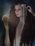 Jewelry Paintings - Mermaid by Jane Whiting Chrzanoska