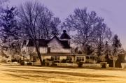 Mermaid Digital Art - Mermaid lake Farmhouse by Bill Cannon