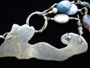 Organic Jewelry Originals - Mermaid necklace by Theresa Lemal