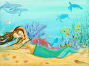 Sealife And Beaches - Mermaid on the Shell Phone by Pauline Ross