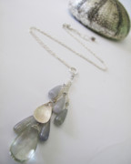 Healing Art Jewelry - Mermaid Treasure Bundle Necklace In Stellar 9ct Praisiolite And Umba Sapphires by Adove  Fine Jewelry
