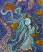Brightly Paintings - Mermaids Dream by Harvest Ganong