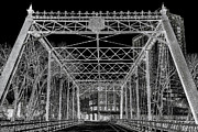 Iron Bridge Prints - Merriam Street Bridge Print by Bill Tiepelman