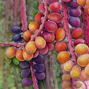 Macro Drawings Posters - Merry Berries Poster by Mindy Lighthipe