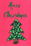 Mandy Shupp - Merry Christmas Abstract tree