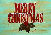 Merry Christmas Print by Georgeta  Blanaru