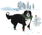 Berner Framed Prints - Merry Christmas Framed Print by Liane Weyers