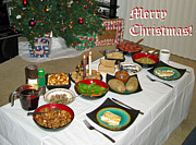 Ausra Paulauskaite Art - Merry Christmas- Traditional Lithuanian Christmas Eve Dinner by Ausra Paulauskaite