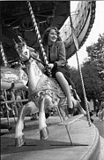 Young Horses Photos - Merry-go-round by Gerti Deutsch