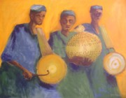 Drummers Prints - Merry Makers Print by Joe Ibenegbu Azunna
