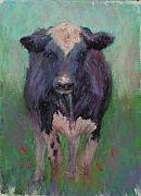 Farm Animals Pastels Prints - Merry meade Print by Susan Williamson