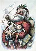 Santa Claus Prints - Merry Old Santa Claus Print by Granger