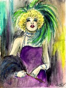 Fashion Plates Prints - Merry Widow Print by Mel Thompson