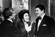 Griffin Photos - Merv Griffin Interviews Nancy Reagan by Everett