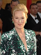 Stud Earrings Prints - Meryl Streep At Arrivals For 16th Print by Everett