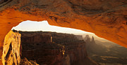 Mesa Arch Posters - Mesa Arch First Light Poster by Bob Christopher