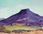 Abiquiu Paintings - Mesa Evening by Stede Barber