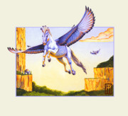 Collectible Mixed Media Prints - Mesa Pegasus Print by Melissa A Benson