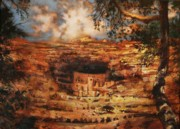 Ancient Ruins Posters - Mesa Verde Colorado Poster by Tom Shropshire