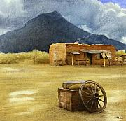 Southwest Landscape Paintings - Mescalero Rains... by Will Bullas