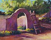 Southwest Landscape Pastels Metal Prints - Mesilla Archway Metal Print by Candy Mayer