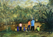 Evacuee Prints - Mesmerized in City Park NOLA Print by Beverly Kimble Davis