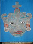 Mesoamerican Paintings - Meso Mask by Dave Raya