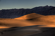 Sand Dunes Photo Posters - Mesquite Flats Sunsrise Poster by Peter Tellone