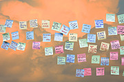 Ipod Posters - Messages in The Cloud . RIP Mr Steve Jobs . October 5 2011 . You Will Surely Be Missed Poster by Wingsdomain Art and Photography
