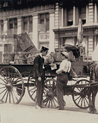 Lewis Wickes Hine Prints - Messenger Boys On A Hurry Call In Union Print by Everett