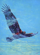 Eagle Painting Originals - Messenger by Patricia A Griffin