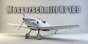 Cinema 4d Prints - Messerschmitt Bf 109 Print by Dale Jackson