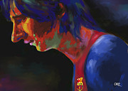 Messi Painting Framed Prints - Messi Framed Print by Carvil