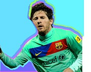 Barcelona Painting Originals - Messi Nixo by Nicholas Nixo