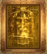 Shroud Of Turin Framed Prints - Messiah Manifested Framed Print by Anastasia  Ealy