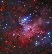 H Ii Regions Prints - Messier 16, The Eagle Nebula In Serpens Print by Robert Gendler
