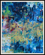 Pallet Knife Prints - Messy Ocean Print by Joanna Georghadjis