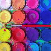 Crafts Prints - Messy Paints Print by Carlos Caetano