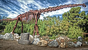 Outdoor Metal Sculpture Art - Metal Brontosaurus by Gregory Dyer