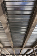 Metal Sheet Photo Prints - Metal Decking Over Structural Steel Print by Don Mason