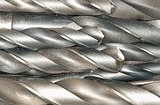 Machinery Metal Prints - Metal Drill Bits Metal Print by Shannon Fagan