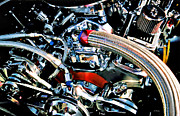 Machinery Digital Art Prints - Metal Matter Print by Linda  Parker