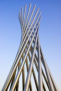 Installation Art Prints - Metal Sculpture At Fermilab Print by Mark Williamson