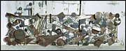 Assemblage Sculpture Originals - Metal Sculpture  by Tommy  Urbans